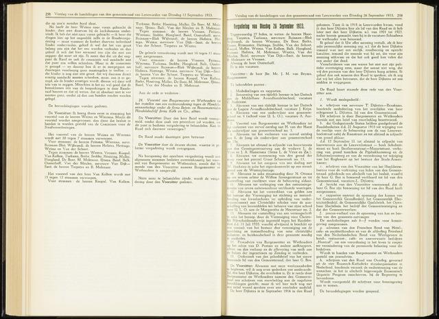 Raadsverslagen van de gemeente Leeuwarden, 1865-2007 (Notulen) 1933-09-26