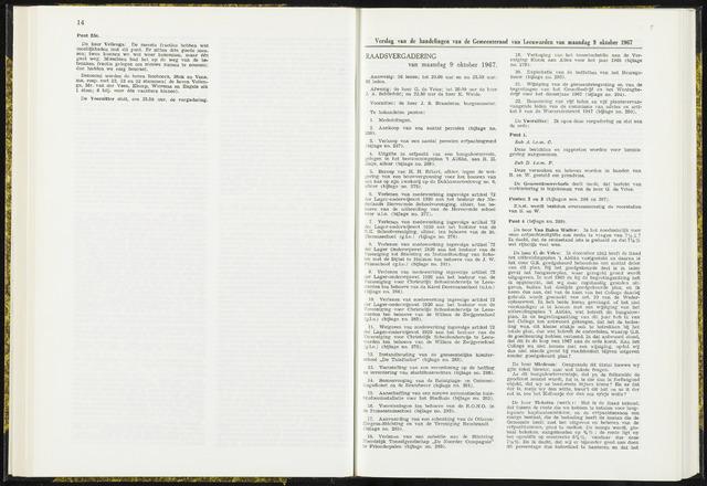 Raadsverslagen van de gemeente Leeuwarden, 1865-2007 (Notulen) 1967-10-09