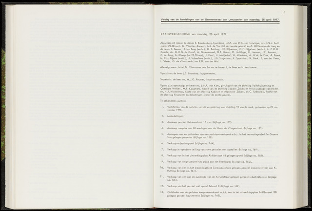 Raadsverslagen van de gemeente Leeuwarden, 1865-2007 (Notulen) 1977-04-25