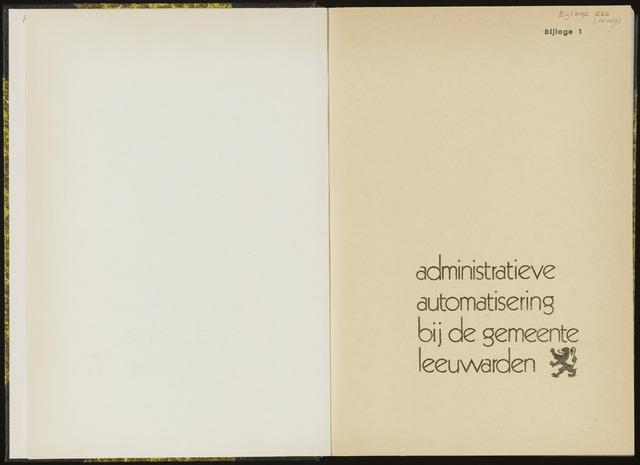 Raadsverslagen van de gemeente Leeuwarden, 1865-2007 (Bijlagen) 1973-01-01