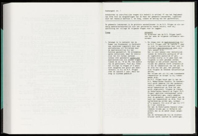 Raadsverslagen van de gemeente Leeuwarden, 1865-2007 (Schriftelijke vragen) 1986
