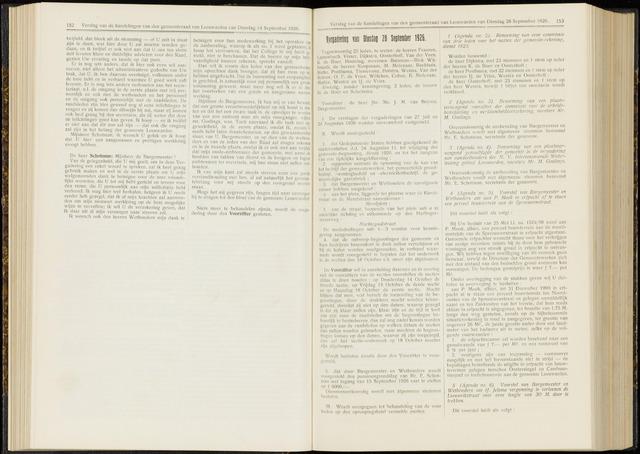 Raadsverslagen van de gemeente Leeuwarden, 1865-2007 (Notulen) 1926-09-28