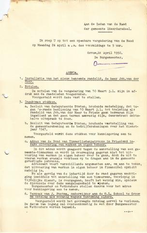 raadsverslagen Idaarderadeel 1935-1983 1950-04-24