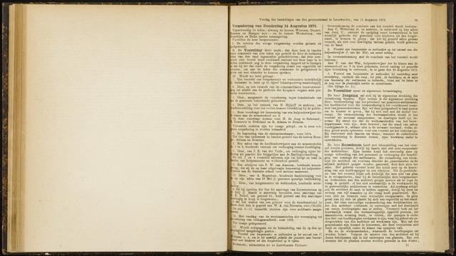 Raadsverslagen van de gemeente Leeuwarden, 1865-2007 (Notulen) 1873-08-14
