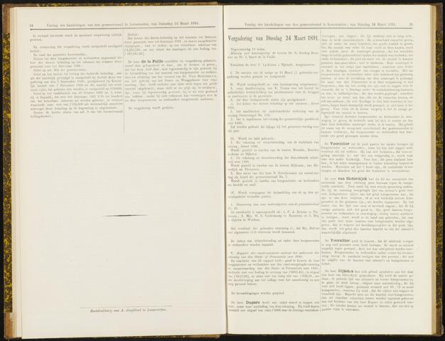 Raadsverslagen van de gemeente Leeuwarden, 1865-2007 (Notulen) 1891-03-24