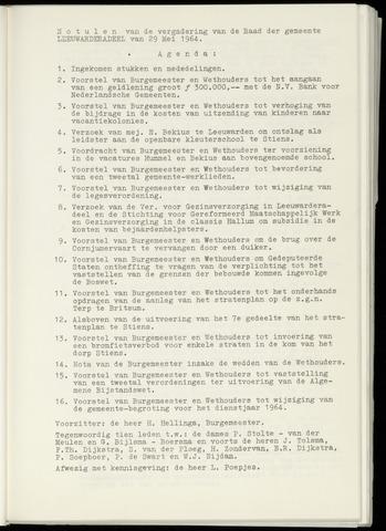 Notulen van de gemeenteraad van Leeuwarderadeel 1964-05-29