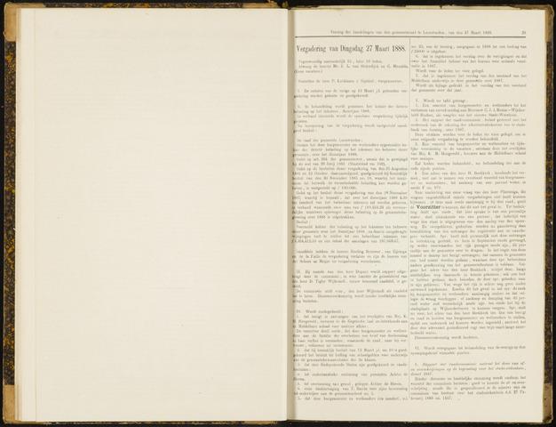Raadsverslagen van de gemeente Leeuwarden, 1865-2007 (Notulen) 1888-03-27