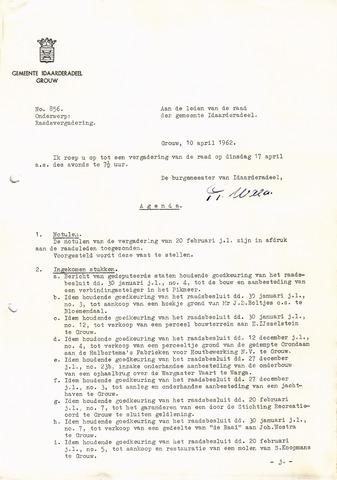 raadsverslagen Idaarderadeel 1935-1983 1962-04-17