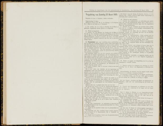 Raadsverslagen van de gemeente Leeuwarden, 1865-2007 (Notulen) 1895-03-23