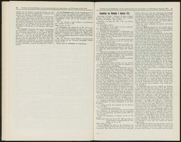 Raadsverslagen van de gemeente Leeuwarden, 1865-2007 (Notulen) 1941-08-06