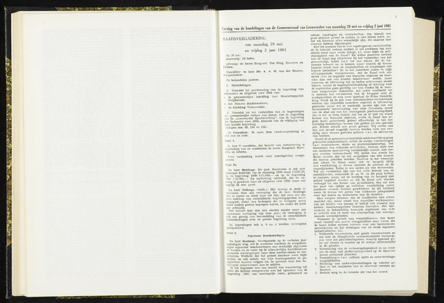 Raadsverslagen van de gemeente Leeuwarden, 1865-2007 (Notulen) 1961-05-29
