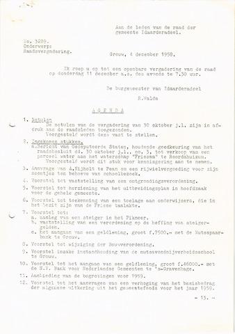 raadsverslagen Idaarderadeel 1935-1983 1958-12-11