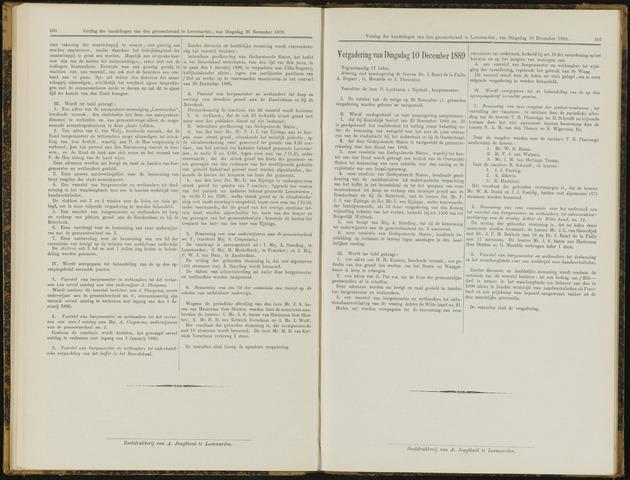 Raadsverslagen van de gemeente Leeuwarden, 1865-2007 (Notulen) 1889-12-10
