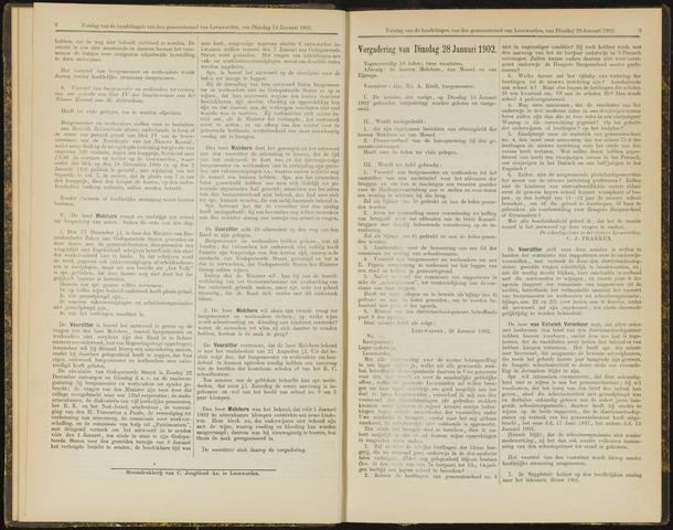 Raadsverslagen van de gemeente Leeuwarden, 1865-2007 (Notulen) 1902-01-28