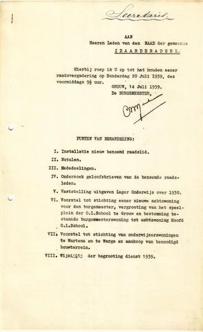 raadsverslagen Idaarderadeel 1935-1983 1939-07-20