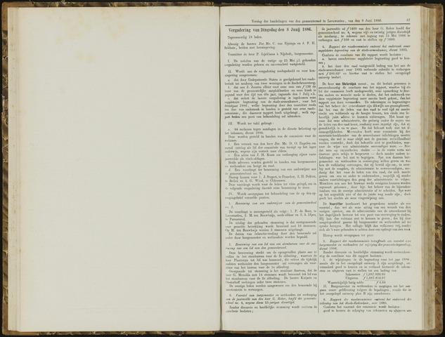 Raadsverslagen van de gemeente Leeuwarden, 1865-2007 (Notulen) 1886-06-08