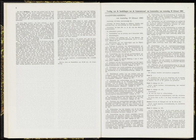 Raadsverslagen van de gemeente Leeuwarden, 1865-2007 (Notulen) 1965-02-10