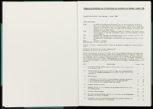 Raadsverslagen van de gemeente Leeuwarden, 1865-2007 (Notulen) 1985