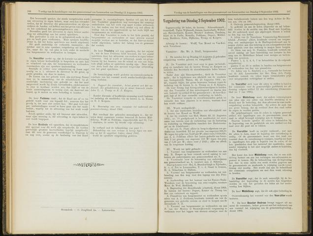 Raadsverslagen van de gemeente Leeuwarden, 1865-2007 (Notulen) 1902-09-02
