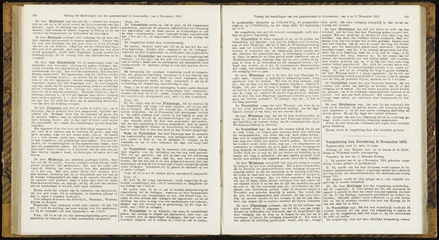 Raadsverslagen van de gemeente Leeuwarden, 1865-2007 (Notulen) 1875-11-11