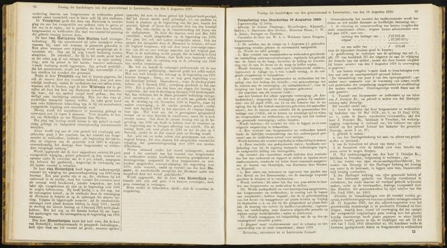 Raadsverslagen van de gemeente Leeuwarden, 1865-2007 (Notulen) 1880-08-19