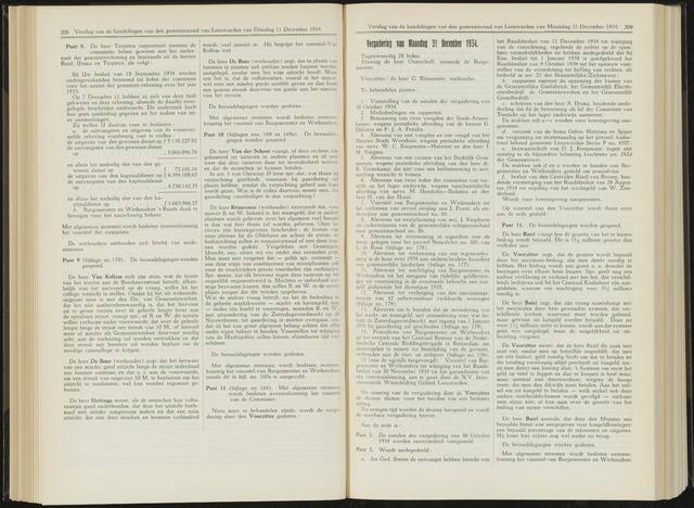 Raadsverslagen van de gemeente Leeuwarden, 1865-2007 (Notulen) 1934-12-31