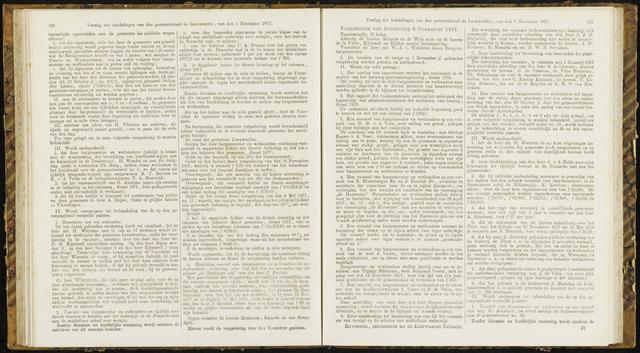 Raadsverslagen van de gemeente Leeuwarden, 1865-2007 (Notulen) 1877-11-08
