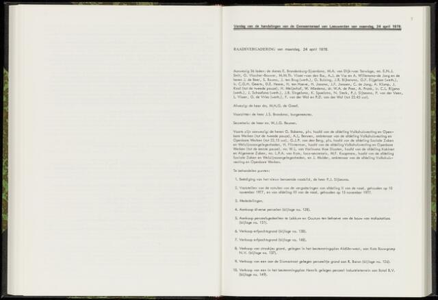 Raadsverslagen van de gemeente Leeuwarden, 1865-2007 (Notulen) 1978-04-24