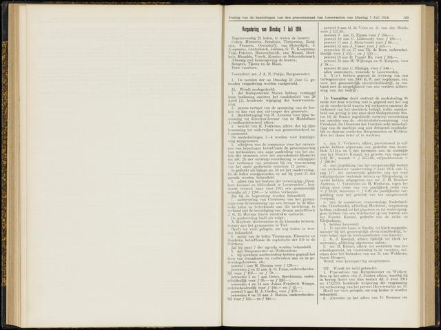 Raadsverslagen van de gemeente Leeuwarden, 1865-2007 (Notulen) 1914-07-07