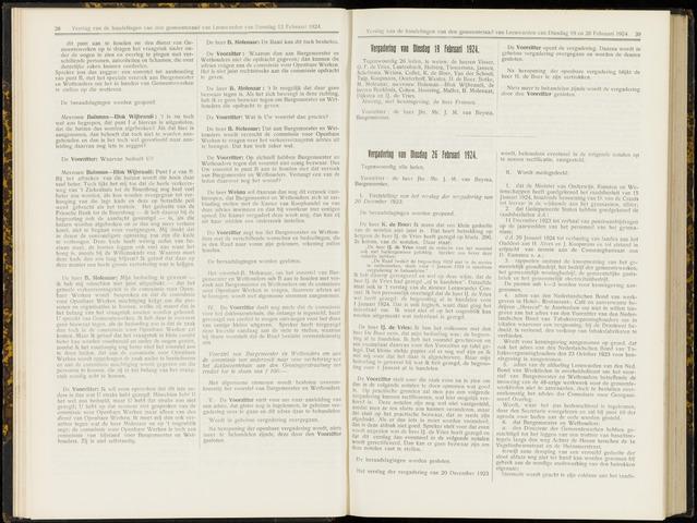 Raadsverslagen van de gemeente Leeuwarden, 1865-2007 (Notulen) 1924-02-19