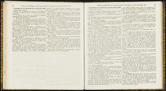 Raadsverslagen van de gemeente Leeuwarden, 1865-2007 (Notulen) 1879-10-18