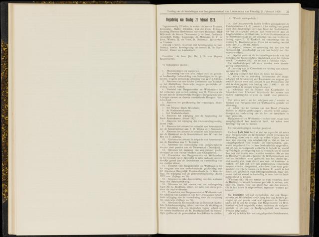 Raadsverslagen van de gemeente Leeuwarden, 1865-2007 (Notulen) 1928-02-21