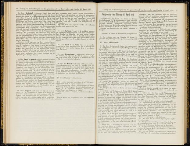 Raadsverslagen van de gemeente Leeuwarden, 1865-2007 (Notulen) 1911-04-11