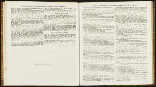Raadsverslagen van de gemeente Leeuwarden, 1865-2007 (Notulen) 1879-03-27