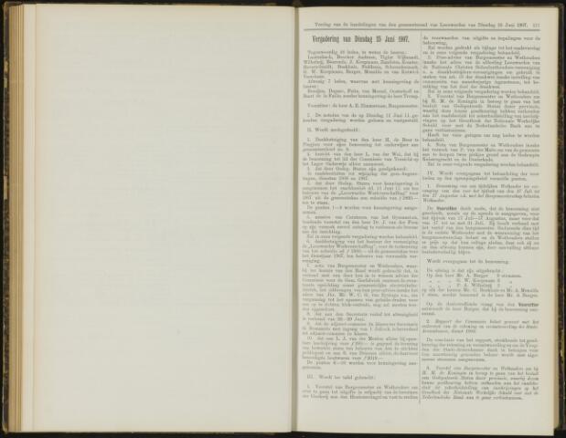 Raadsverslagen van de gemeente Leeuwarden, 1865-2007 (Notulen) 1907-06-25