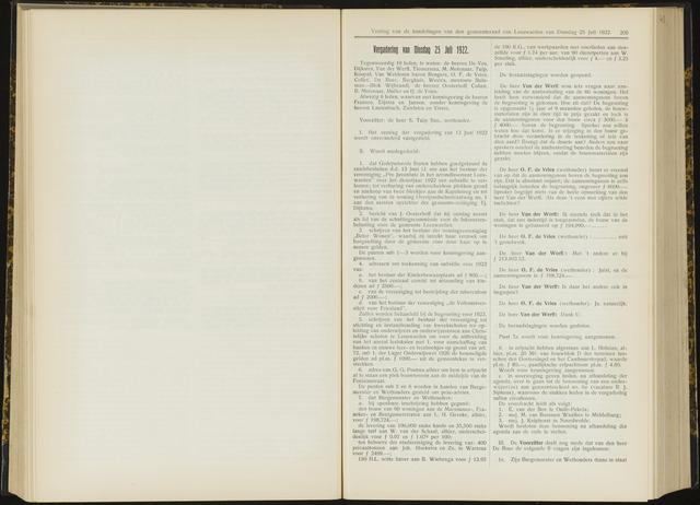 Raadsverslagen van de gemeente Leeuwarden, 1865-2007 (Notulen) 1922-07-25