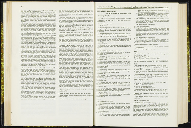 Raadsverslagen van de gemeente Leeuwarden, 1865-2007 (Notulen) 1955-11-16