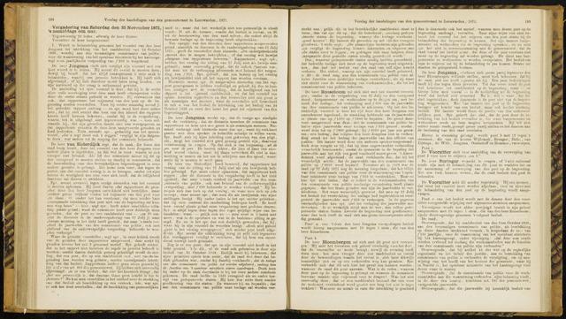 Raadsverslagen van de gemeente Leeuwarden, 1865-2007 (Notulen) 1871-11-25