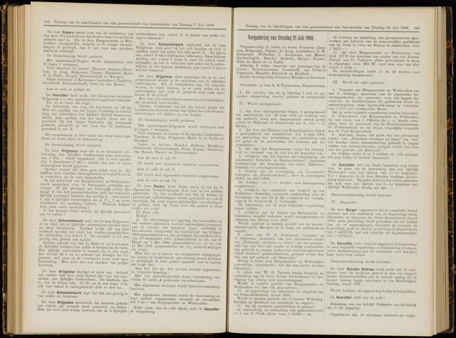 Raadsverslagen van de gemeente Leeuwarden, 1865-2007 (Notulen) 1908-07-21