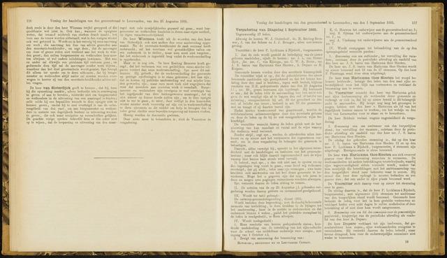 Raadsverslagen van de gemeente Leeuwarden, 1865-2007 (Notulen) 1885-09-01