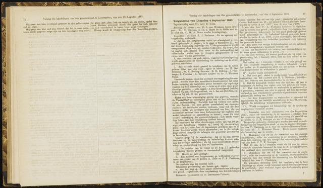 Raadsverslagen van de gemeente Leeuwarden, 1865-2007 (Notulen) 1883-09-04