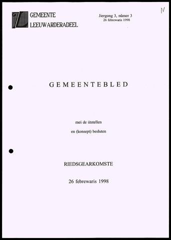Notulen van de gemeenteraad van Leeuwarderadeel 1998-02-26