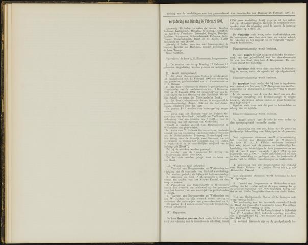 Raadsverslagen van de gemeente Leeuwarden, 1865-2007 (Notulen) 1907-02-26