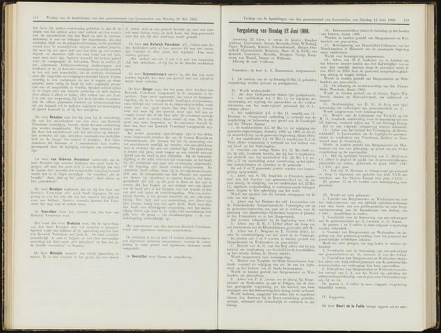 Raadsverslagen van de gemeente Leeuwarden, 1865-2007 (Notulen) 1906-06-12