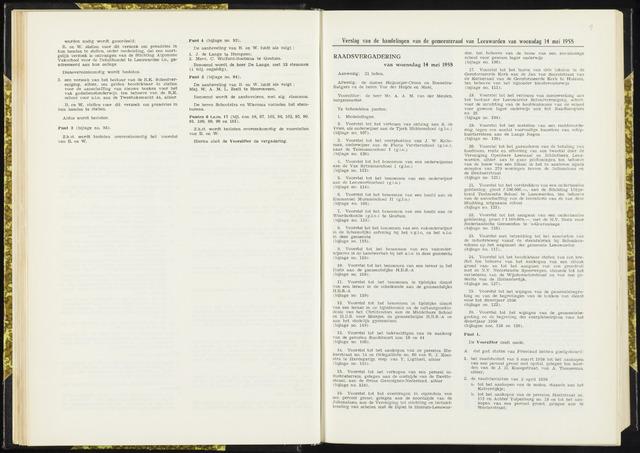 Raadsverslagen van de gemeente Leeuwarden, 1865-2007 (Notulen) 1958-05-14