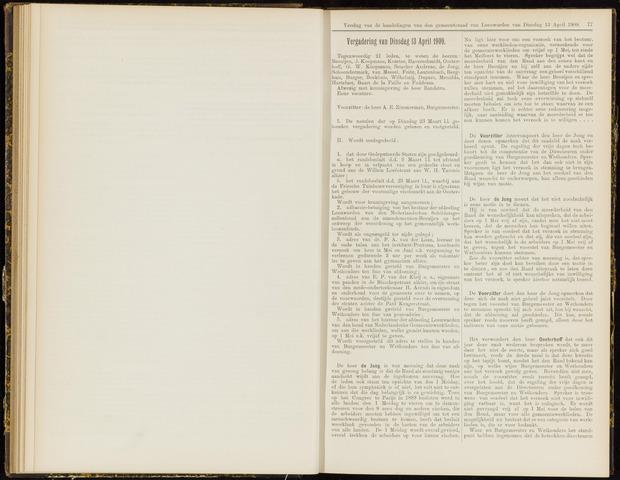 Raadsverslagen van de gemeente Leeuwarden, 1865-2007 (Notulen) 1909-04-13