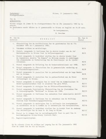 Notulen van de gemeenteraad van Leeuwarderadeel 1982-01-28
