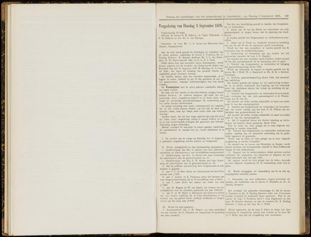 Raadsverslagen van de gemeente Leeuwarden, 1865-2007 (Notulen) 1895-09-03