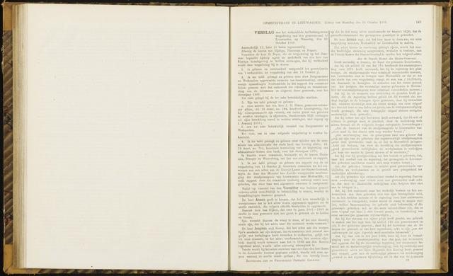 Raadsverslagen van de gemeente Leeuwarden, 1865-2007 (Notulen) 1869-10-25