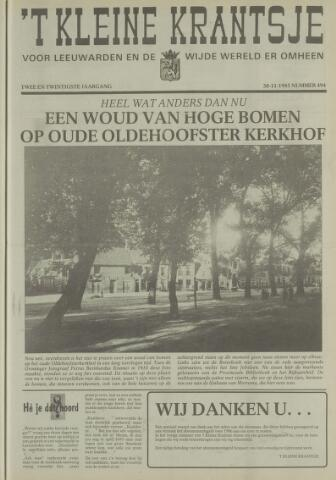 't Kleine Krantsje, 1964-1997 1985-11-30